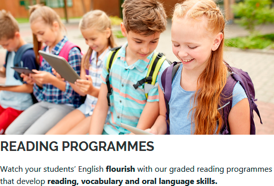 Watch your students' English flourish with our graded reading programmes